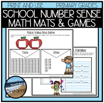 Back to School Number Sense Activites and Dice Games