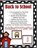 Back to School Number Sense, Addition, Subtraction, & Meas