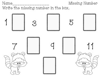 Back to School Number Sequencing Center