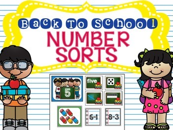 Back to School Number Sorts