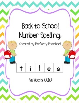 Back to School Number Spelling Tiles