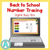 Back to School Number Tracing Digital Busy Box for Distanc