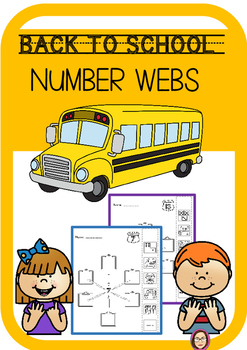 Back to School Number Webs Number Sense Print and Go!