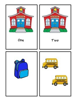 Back to School - Number Word and Count Match Up #1-10
