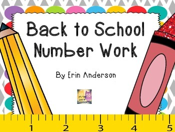 Back to School Number Work
