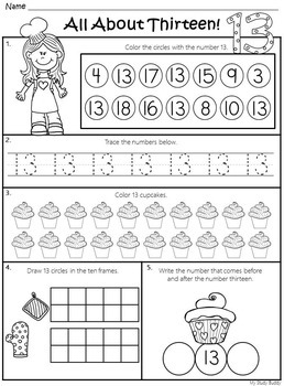Back to School:  Number of the Day (Numbers 1-20 for Kindergarten)