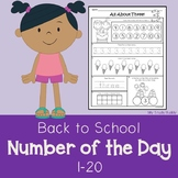 Back to School:  Number of the Day (Numbers 1-20 for Kinde