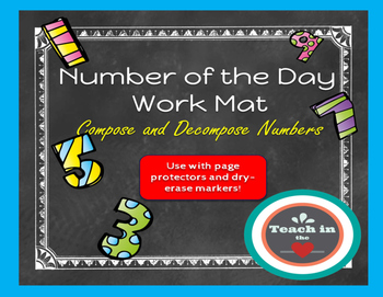 Back to School-Number of the Day Workmat - 1st through 3rd grade