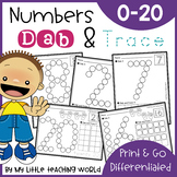 Back to School Numbers 0-20 Dab & Trace | Number Sense | Fine Motor