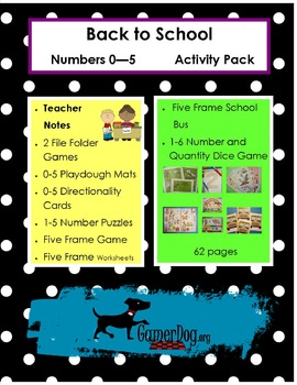 Back to School - Numbers 0-5  Activity Pack
