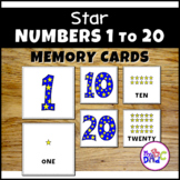 Numbers 1-20 Memory Cards with Stars