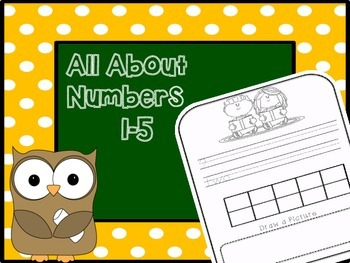 Back to School Numbers 1-5 Booklet
