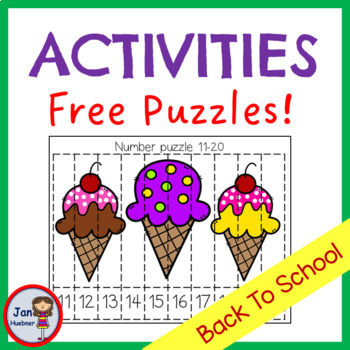 Back to School Numbers Letters and Puzzles