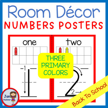 "Back to School Numbers Poster (Matches all ""Back to School"" products)"