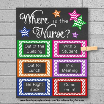 Where is the Nurse Door Sign, Colorful