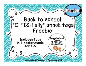 Back to School: O FISH ally Snack Tags {Freebie!}