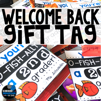 Back to School OFISHAL student gift tag for K-5