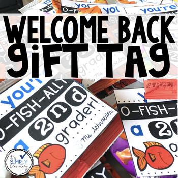 Back to School OFISHAL student gift tag for pK-5