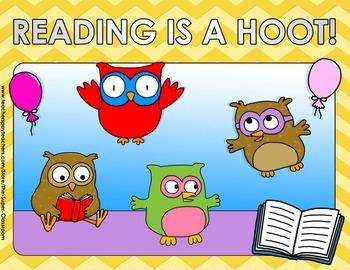Back to School – OWL & CHEVRON – Editable Posters - FREE