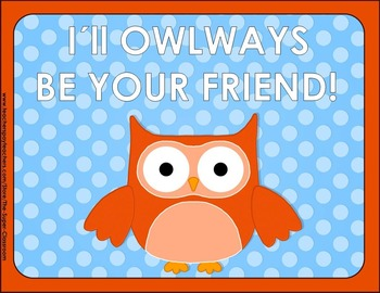 Back to School – OWL & POLKA DOT – Editable Posters -FREE