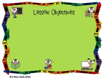 Back to School Objective Cards