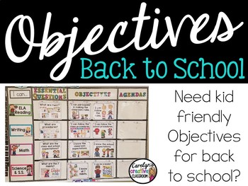 Back to School Objectives and Essential Questions