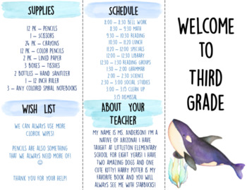 Back to School - Ocean Themed Bundle