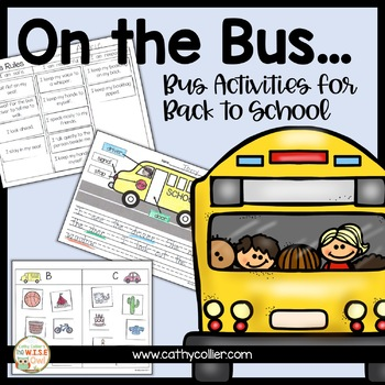 Bus Activities for Back to School