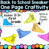 Back to School One Page Craftivity: Kicking Off the Year Sneaker