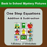 Back to School: One-Step Equations (Addition & Subtraction