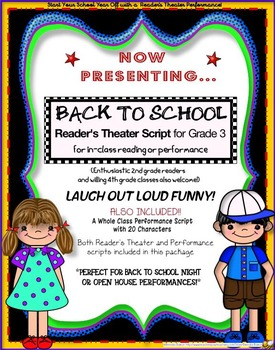 Back to School - One Way or Another! A Reader's Theater & Performance Play