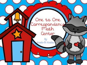 Back to School One to One Correspondence Math Center