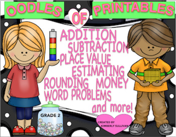 Back to School Oodles of Math Printables Grade 2