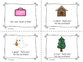 Speech Therapy Game Back to School