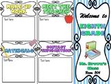 Fully Editable Open House / Parent-Teacher Conference Brochure