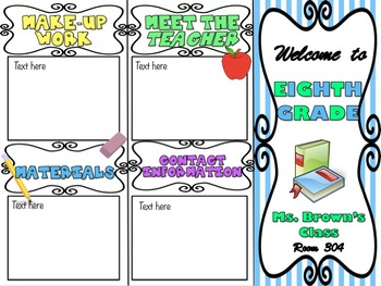 Fully Editable Open House / Parent-Teacher Conference Brochure