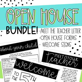 Back to School Open House Bundle