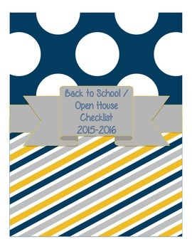 Back to School / Open House Checklist