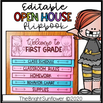 Back to School - Open House EDITABLE Flip Book