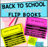 Editable Back to School Student and Parent Flip Books