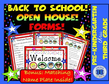 Meet the Teacher | Back to School Open House Forms - Kids Theme