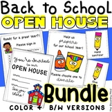 Back to School Open House Forms and Activities Bundle