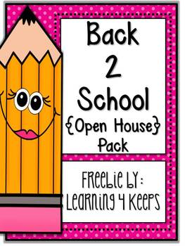 Back to School: Open House Freebie!