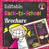 Back to School Open House Glitter {Editable} Brochure