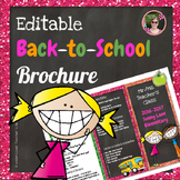 Back to School Open House Glitter {Editable} Brochure