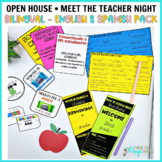 Back to School • Open House • Meet the Teacher Bilingual pack in English Spanish