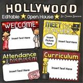 Back to School Open House Meet the Teacher Hollywood Movies PowerPoint Editable