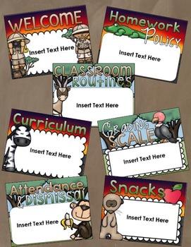 Back to School Open House Meet the Teacher Jungle Safari PowerPoint Editable
