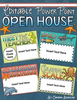 Back to School Open House Meet the Teacher Ocean Underwater PowerPoint Editable