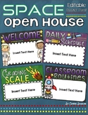 Back to School Open House Meet the Teacher Outer Space PowerPoint Editable